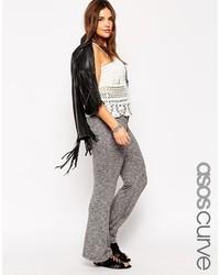 Pantalon flare en laine gris Asos