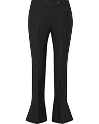 Pantalon flare en laine noir