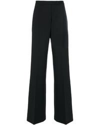 Pantalon flare en laine noir Alberta Ferretti