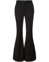 Pantalon flare en laine noir Alexander McQueen