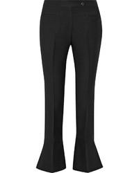 Pantalon flare en laine noir Fendi