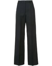 Pantalon flare en laine noir Jil Sander