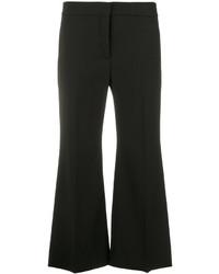 Pantalon flare en laine noir Valentino