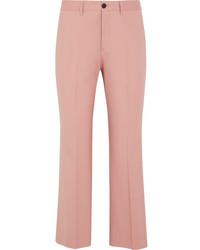 Pantalon flare en laine rose Miu Miu