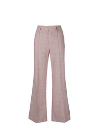 Pantalon flare en laine rose See by Chloe
