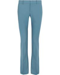 Pantalon flare en laine turquoise Gucci