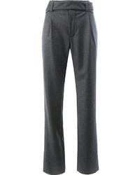 Pantalon flare gris foncé Saint Laurent