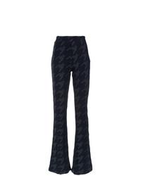 Pantalon flare imprimé bleu marine Tufi Duek