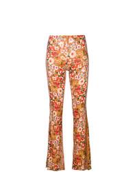 Pantalon flare imprimé jaune Black Coral