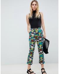 Pantalon flare imprimé multicolore ASOS DESIGN