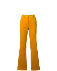 Pantalon flare jaune Etro