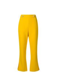 Pantalon flare jaune MSGM