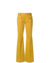 Pantalon flare jaune Talbot Runhof