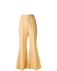 Pantalon flare marron clair Chloé