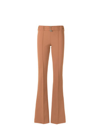 Pantalon flare marron clair Gloria Coelho