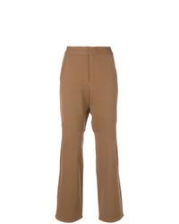 Pantalon flare marron clair Marni