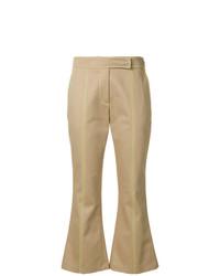 Pantalon flare marron clair MSGM