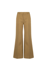 Pantalon flare marron clair See by Chloe