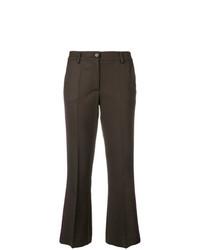Pantalon flare marron foncé P.A.R.O.S.H.