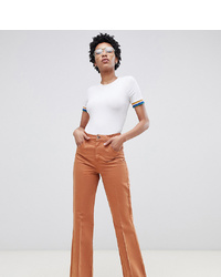 Pantalon flare marron Asos Tall
