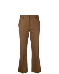 Pantalon flare marron P.A.R.O.S.H.