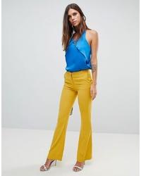 Pantalon flare moutarde Y.a.s