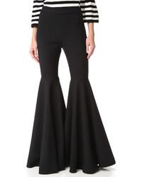 Pantalon flare noir Milly