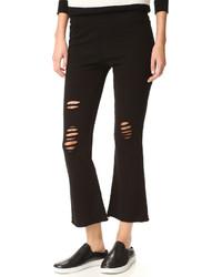 Pantalon flare noir Pam & Gela