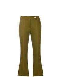 Pantalon flare olive MSGM