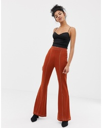Pantalon flare orange ASOS DESIGN
