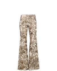 Pantalon flare pailleté doré P.A.R.O.S.H.