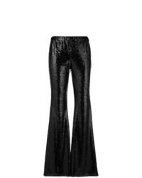Pantalon flare pailleté noir P.A.R.O.S.H.