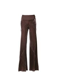 Pantalon flare pourpre foncé Rick Owens