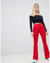 Pantalon flare rouge ASOS DESIGN