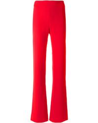 Pantalon flare rouge Giorgio Armani