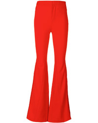 Pantalon flare rouge Givenchy