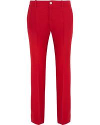 Pantalon flare rouge Gucci