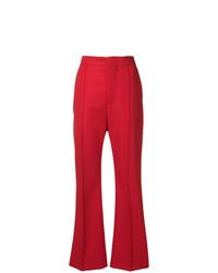 Pantalon flare rouge Marni