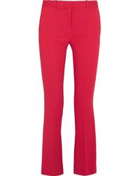 Pantalon flare rouge Versace