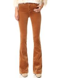 Pantalon flare tabac AG Jeans