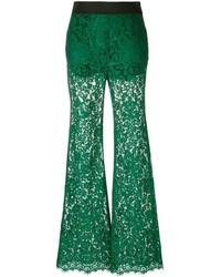Pantalon flare vert foncé Dolce & Gabbana