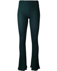 Pantalon flare vert foncé MM6 MAISON MARGIELA