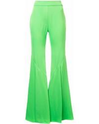 Pantalon flare vert Ellery