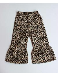 Pantalon imprimé léopard marron