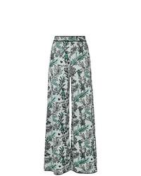 Pantalon large à fleurs bleu clair M Missoni