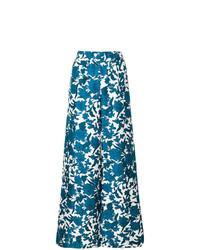 Pantalon large à fleurs bleu La Doublej