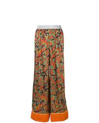 Pantalon large à fleurs multicolore I'M Isola Marras