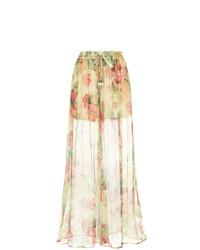 Pantalon large à fleurs multicolore Zimmermann