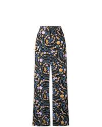 Pantalon large à fleurs noir See by Chloe