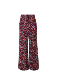 Pantalon large à fleurs pourpre foncé See by Chloe
